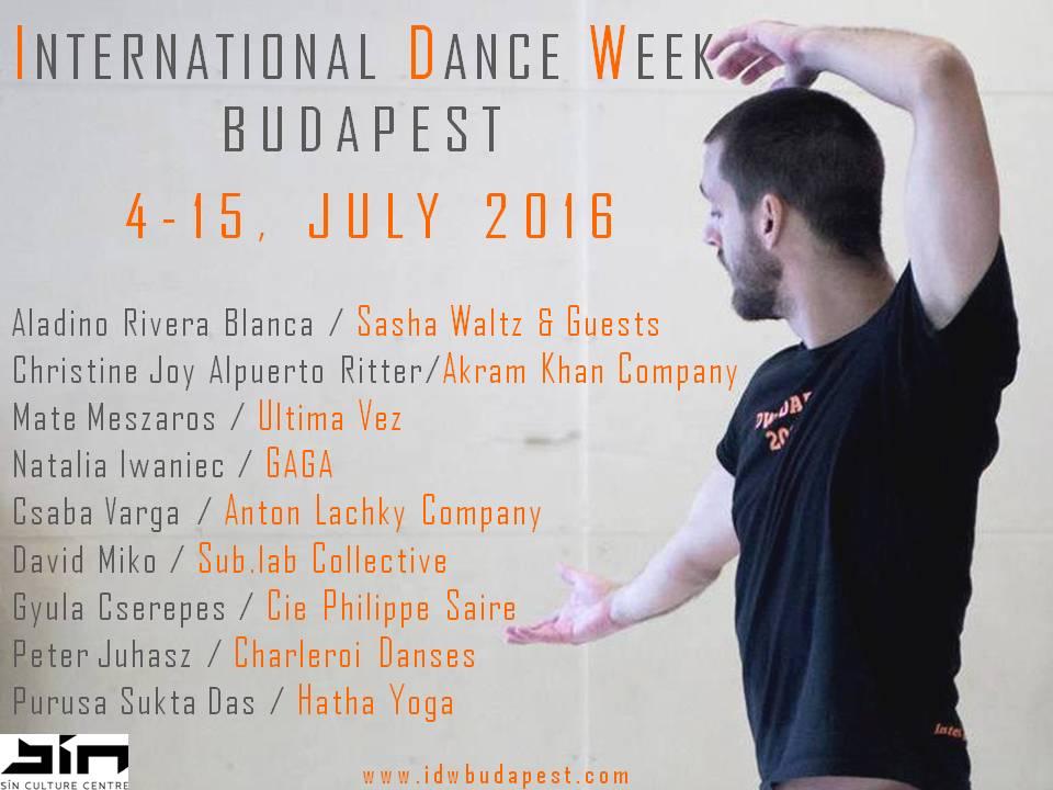 INTERNATIONAL DANCE WEEK BUDAPEST 2016